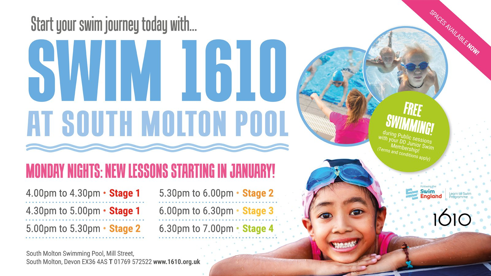 Swim lessons at South Molton